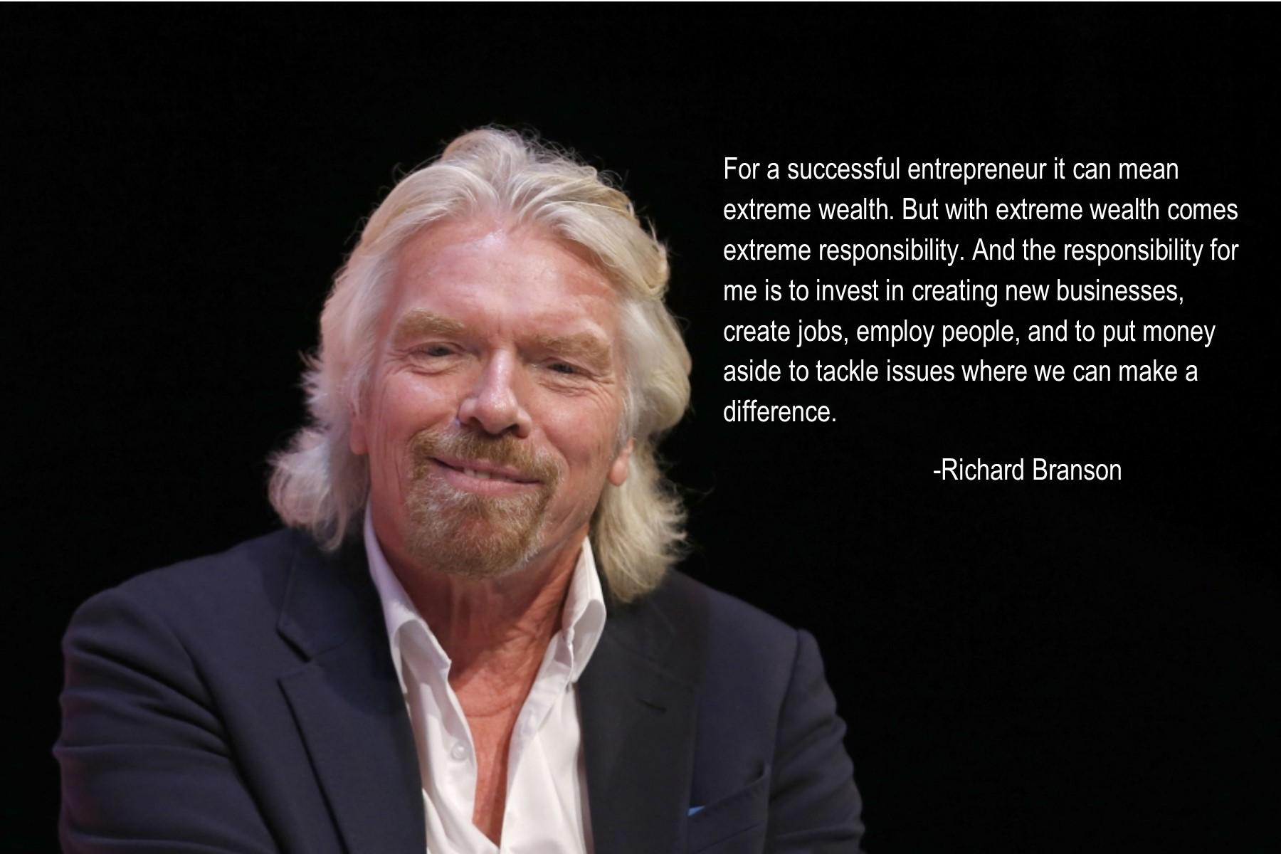 a description of richard branson as an entrepreneur